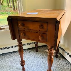 early Americana Cherry 2 drawer table