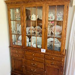Large Colonial style hutch