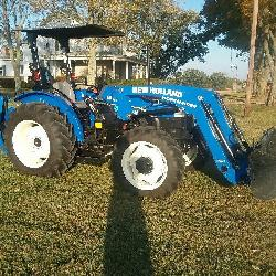 2013 New Holland 55 Workmaster Tractor-139 hrs, 920GH Backhoe, 615TI Loader