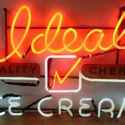 Ideal Ice Cream Neon Store Sign