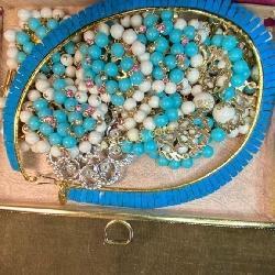 Box of unusual VintageCostume Jewelry