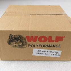 500 Rounds Wolf Performance Ammo Case .308 WIN FMJ 145 Grain 500 Rounds Wolf Performance Ammo Case .308 WIN FMJ 145 Grain
