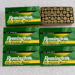 250 Rounds Remington Golden Bullet .22 Short High Velocity