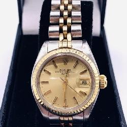 WOMAN'S ROLEX TWO TONE OYSTER PERP. DATE