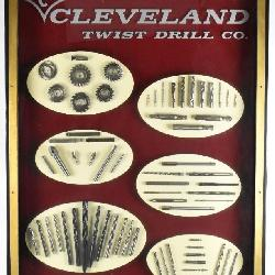 Rare Cleveland Twist Drill co Display