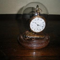 Elgin Pocket Watch and Display Stand