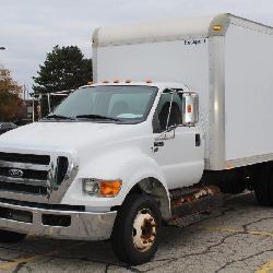 UM# 1276 2012 Ford F650 14' Box Truck w/ 18,572 K