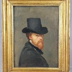 C/1890 Oil Portrait Of