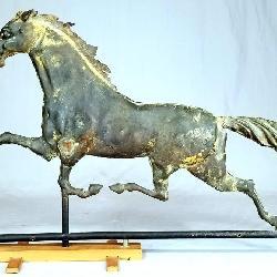 C/1880 Copper And Iron Horse Weathervane
