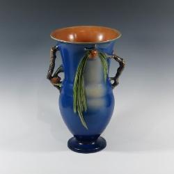 Roseville Blue Pinecone Vase