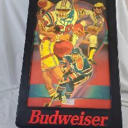 Budweiser Football Bar Sign