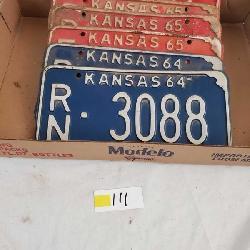 Antique Kansas License Plates