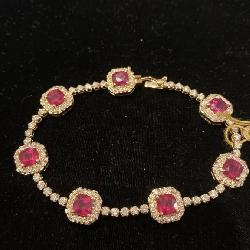 14K RUBY AND DIAMOND BRACELET