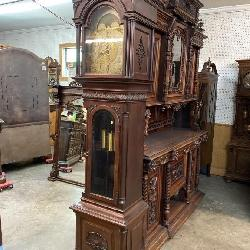 ANTIQUE MAHOGANY TALL CASE CLOCK JOHN WANAMAKER