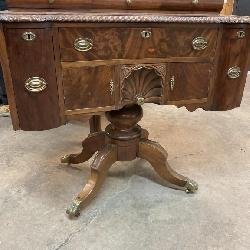 RARE 19TH CENT. CHEST ON PEDESTAL