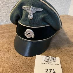 German SS Skull WWII Visor Cap