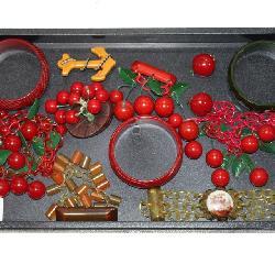 #1 Fun Lot of Bakelite incl. Bangles & Cherries