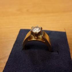 14 Kt. Ring w/ 3/4 ct. Diamond size 6 3/4