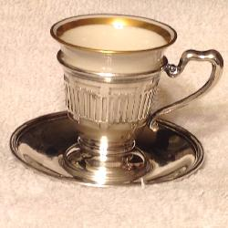 Lenox Sterling Silver Demitasse Cup and Saucer