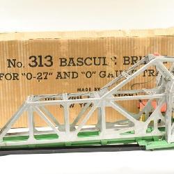 low priced 6a964 ab9c6 Vintage Lionel O Gauge 313 Bascule Bridge In Box
