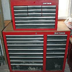 Craftsman rolling chest on chest tool box