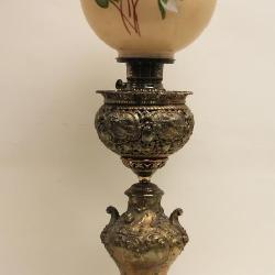 the best attitude bdf37 bfb09 19c Victorian Roccoco Cherub Banquet Lamp w Globe