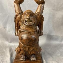 ROSEWOOD STANDING BUDDHA