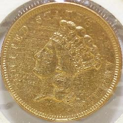 1854 US $3 Gold Coin