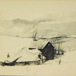 Andrew Wyeth Lithograph: