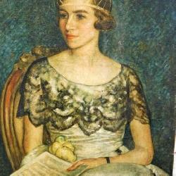 Oil On Canvas Portrait c. 1910s