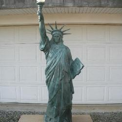 8 Ft. Cast Alum. Statue of Liberty