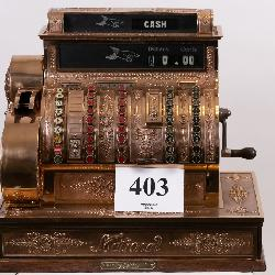 NCR Solid Brass National Cash Register
