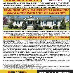 43 Trousdale Ferry Pk • Gordonsville TN