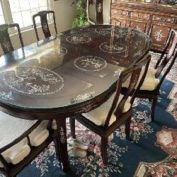 Amazing Asian Three Pc Dining Room Set