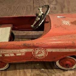 Vintage Firetruck Peddle Car