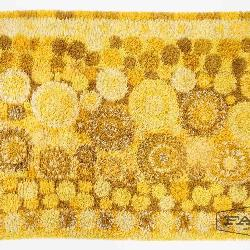new styles 608f0 8bcab Yellow and Brown Shag Rug
