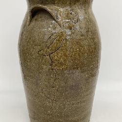 RARE Antique NC Stoneware Jug Signed by Isaac Gay