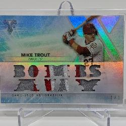 3/3 2015 Topps Bombs Away Mike Trout Relic