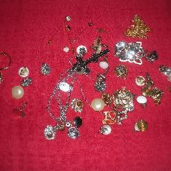 Earrings and Pins, Costume Jewelry