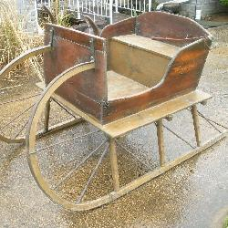 Vintage Amish Wood Sleigh