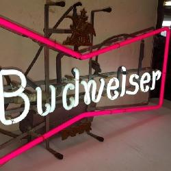 Budweiser Bowtie Neon Sign, 27x15