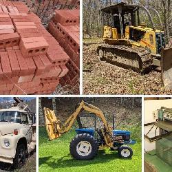 trucks, equipment, tractors, dozer