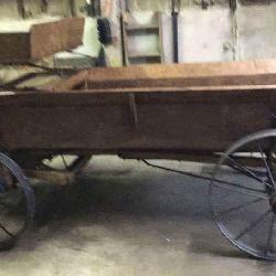 Open oak farm wagon 3 ft wide 10ft long. Spring