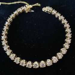 14K  7.12CT DIAMOND TENNIS BRACELET