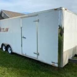 18 foot enclosed car hauler