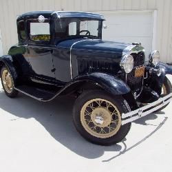 1930 Ford Model A Coupe - Dk Blue - Restored