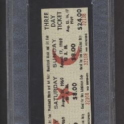 Flawless Original Woodstock Ticket