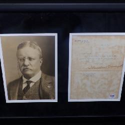 Amazing Teddy Roosevelt Autograph on White House Stationery
