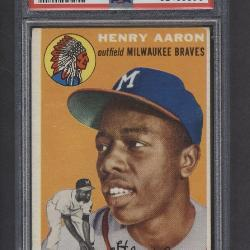 1954 Topps Hank Aaron Rookie Card