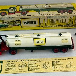 Vintage Original First 1964 Hess Oil Tanker Truck w/ Original Box and Accessories (Funnel, Hose, Battery Card)
